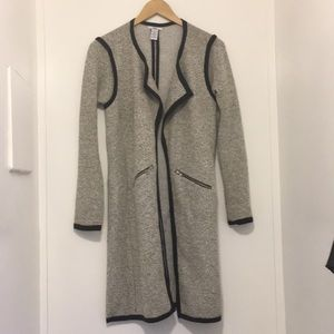 Bar 111 long cardigan black grey white size small
